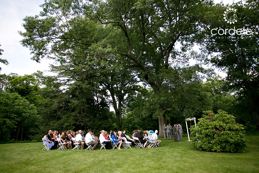 Wedding Ceremony at Codman Estate