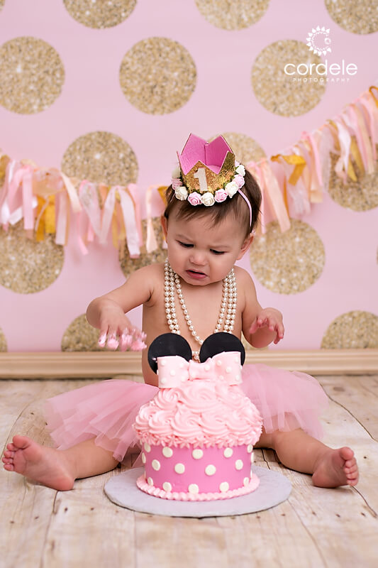 Baby's First Birthday cake smash session