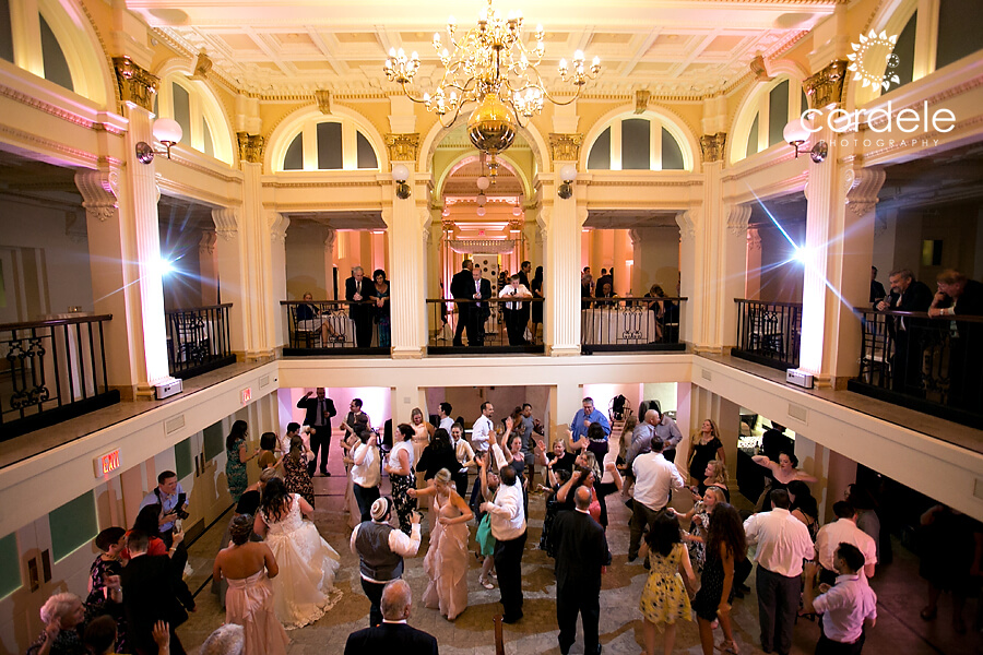 Dance floor photo at the providence public library
